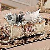 LMHSG Caja de Papel Home Sala de Estar Sala de cartón Europeo Simple Papel de cartón Control Remoto Moderno Moderno Multiuso Caja de pájaro Lenguaje de pájaro Floral Tissue Box (Color : Ssfhgh74192)