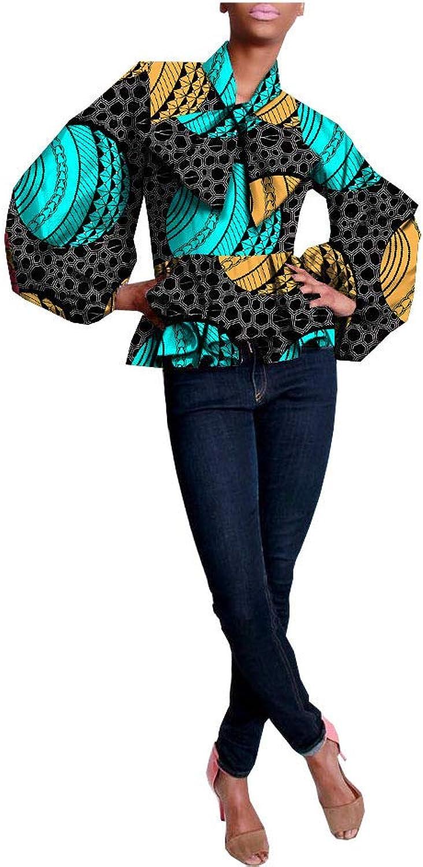 African Shirts For Women Ankara Dashikis Wax Prints Attire Casual Clothing 278 L