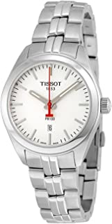 Tissot PR 100 NBA Silver Dial Stainless Steel Quartz Ladies Watch T1012101103100