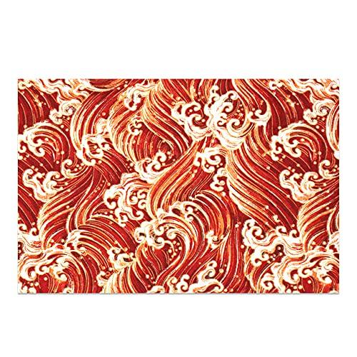 Patrón de Moda Mantel Mantel de Lino de algodón Hotel Picnic Cubierta de Mesa Rectangular Comedor en casa Mesa de té Decoración moderna-C19,110x110cm
