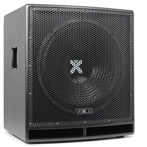 Vexus SWP15 PRO Aktiv-PA-Subwoofer Lautsprecher-Box (38 cm (15