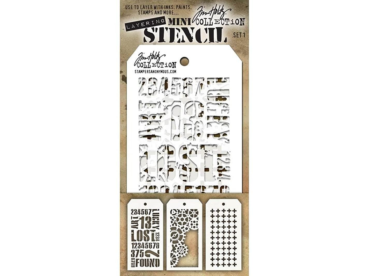 Stampers Anonymous StampersA Layering Stencil THoltz Mini #1