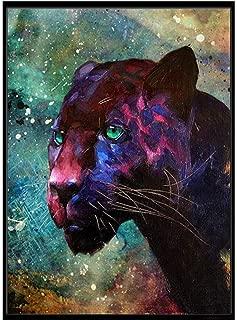 5D Diamond Painting Rhinestone Fantasy Starry Sky Black Panther Color Embroidery Wallpaper DIY Crystal Cross Stitch Arts Wallpaper Handmade Artwork Tools Kits 25X30CM