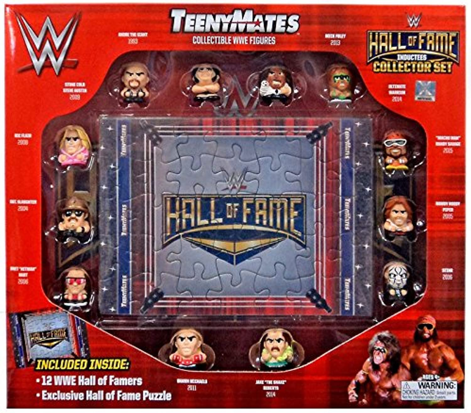 WWE Teeny Mates Hall Of Fame Collector Set 12 Famers + Puzzle Exclusive