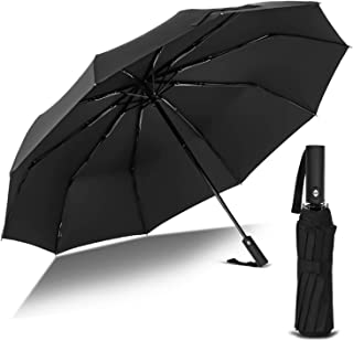 Kono Folding Umbrella Automatic, Travel Umbrella Windproof, Compact Umbrella 10 Ribs with 210T Fast Drying Coating, Unbrea...
