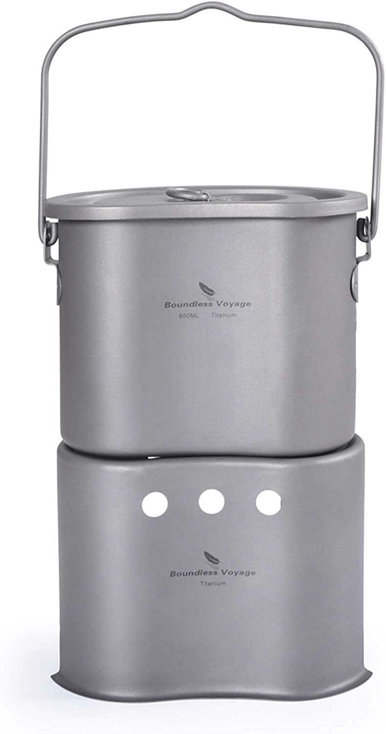 Boundless Voyage 2 Popular overseas in 1 Titanium with Set Wood Cup Stove Limited time cheap sale Canteen