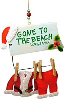 Cape Shore Santa Gone to The Beach Christmas Ornament