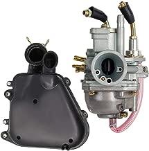 Carburetor + Air Filter Box Assembly Housing Kit For Polaris Predator 90 Manual Choke 90cc Carb Sportsman 90 Yamaha JOG 90 100 90cc 100cc 4DM Scrambler 90 2001-2003 by LIYYOO