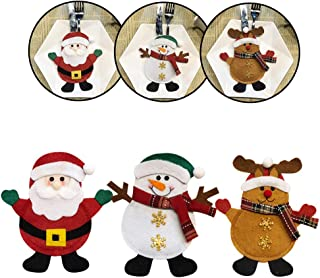 Christmas Decorations Snowman Silverware Holders Christmas Ornaments for Tables Year Home