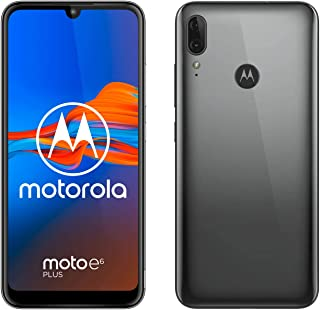 Motorola Moto E6 Plus (pantalla 61 max vision doble cámara de 13 MP 64GB/4 GB Android 9.0 Dual SIM) Gris Gunmetal + Funda