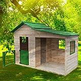 """BRAST Spielhaus""""Gartenlaube"""" für Kinder 3qm 244x124x174cm Tannenholz 12mm Kinder-Haus Spielehaus Garten Holz-Haus"""