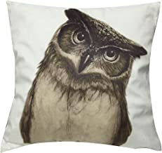 LAZAMYASA Animal Fashion Abstract Pug Dog Cushion Cover Case Pillow Custom Zippered Square Pillowcase 18x18 (one Side),Owl