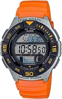 Men's 10 Year Battery Quartz Resin Strap, Orange, 22.8 Casual Watch (Model: WS-1100H-4AVCF)
