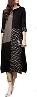 Hiral Designer Mall - Vestido largo para mujer Kurta indio Kurti