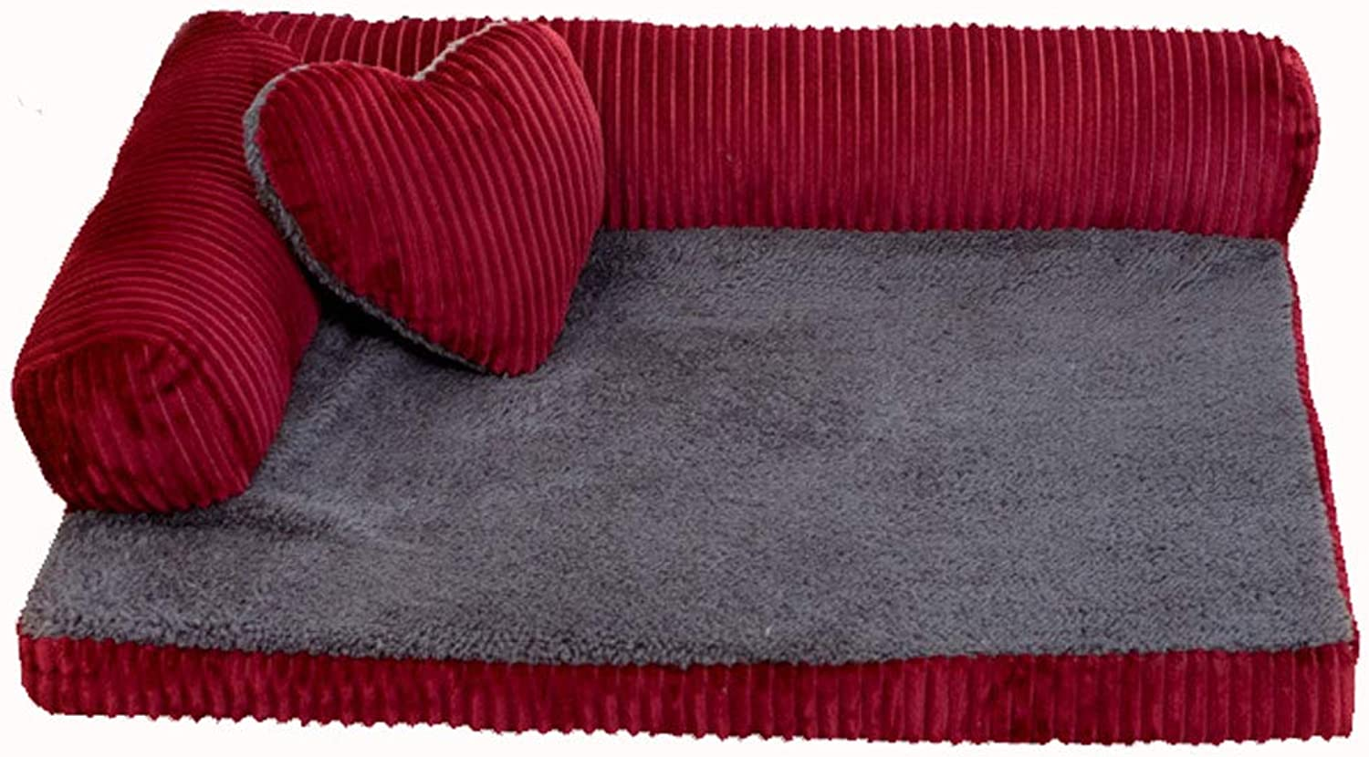 Lyuyu The Dog\'s Bed, Fully Removable and Striped Corduroy ...