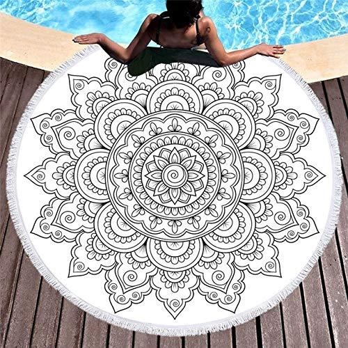 IAMZHL Toallas de Playa Redondas Toalla de Ducha de baño Gruesa geométrica de Verano 150cm Círculo Playa Natación Estera de Yoga Cubrir servilleta de Plage-a2