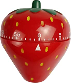 Spotact Novelty Cute 1-60min 360 Degree Rotating Tomato Strawberry Shape Timer, Mechanical Kitchen Ring Alarm Tool for Coo...