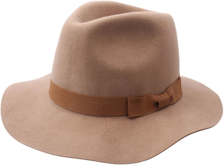 Brixton Women's Indiana Wool Felt Fedora Hat