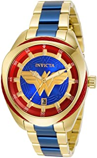 Invicta 31730 Gold/Blue DC Comics Wonder Woman Ladies Watch