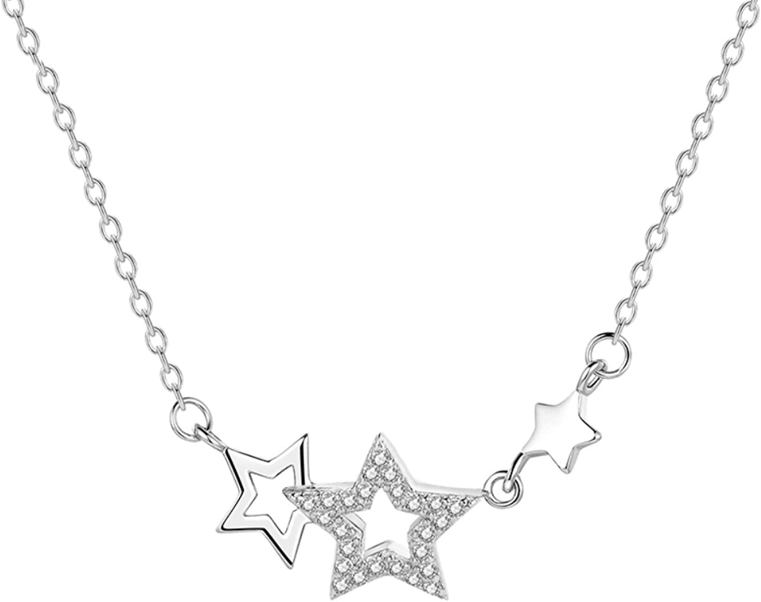 Necklace Women Rhinestone Five 70% OFF Outlet Pointed Super special price Pendant Star Clavicle Ch
