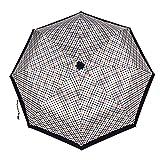 LYJZH Regenschirm, Winddichter, Stabiler Und Kompakter Großschirm, Schnell Trocken, Regenschirm 8 Bone Automatikschirm dreifachgefalteter Sonnenschirm Farbe10 98cm