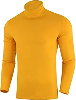 Mens Casual Slim Fit Pullover Sweaters Knitted Turtleneck Long Sleeve Basic Shirts