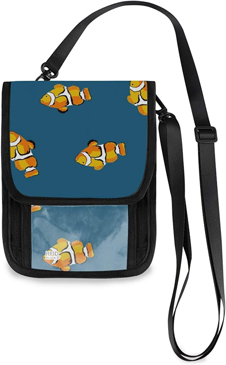 VIKKO Chic Limited time for free shipping Clownfish Travel Neck Super intense SALE Wallet Sm With - Blocking RFID