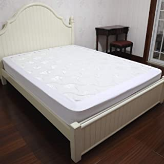 Barossa Design Box Spring Cover Queen Size - Wrap Around Elastic Bed Skirt, Easy on/Easy Off, Wrinkle Resistant, Hotel Quality (White)