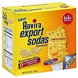 Rovira Export Sodas - Butter Soda Crackers (8 foil fresh packs/box) - 8.8 oz Box (Count of 2)