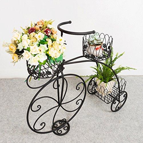 Bastidor de flor de hierro del arte, estante de la maceta del piso del estilo de la bici, soporte de...