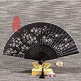 LUXMAX Beautiful Fan Modelos Fan de Seda Calidad para Mujer Regalo de Seda Ventilador Plegable Danza Antigua Cheongsam Ventilador Plegable Bambú Ventilador Plegable (Color: 6) (Color : 5)