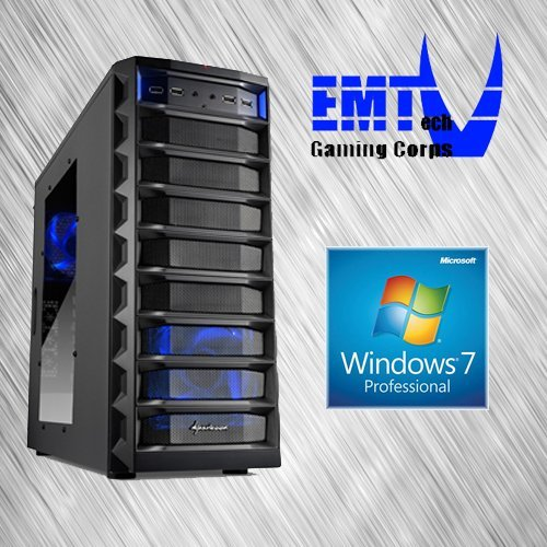 EMTech Gaming Corps ONE FX Advanced V1 | ASUS 970 PRO GAMING / AURA 970 Mainboard | AMD FX-6300 | Radeon R9 380 4GB | 16GB DDR3 1866 | 1TB HDD + 120 GB SSD | 750W 80+ Gold Thermaltake PSU | (Windows 7 Professional)