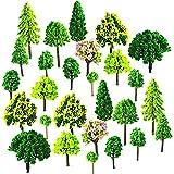 Mlysnd Arboles Maqueta, 55 Piezas Diorama árboles en Miniatura Hecho de Plástico para DIY, Mesa de Arena, Ferrocarril, Arquitectura, Paisaje en Miniatura (3-7cm)