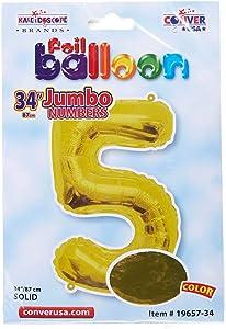 كلايدسكوب بالون حجم 34 لون ذهبي رقم 5
