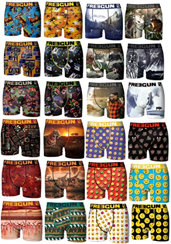 Freegun Lot Surprise de 9 Boxers Homme 9 Motifs Differents Selon Arrivage, Multicouleur, XXL