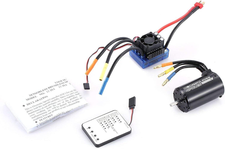 Jiobapiongxin 4068 2050KV Brushless Motor 120A ESC LED Programmierung Karte für 1 8 RC Auto JBPX