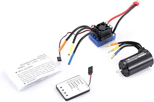 Jiobapiongxin 4068 2050KV Brushless Motor 120A ESC LED Programmierung Karte für 1 8 RC Auto JBP-X