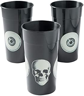 Fun Express - Vintage Halloween Plastic 220z Tumbler for Halloween - Party Supplies - Drinkware - Re - Usable Cups - Halloween - 12 Pieces