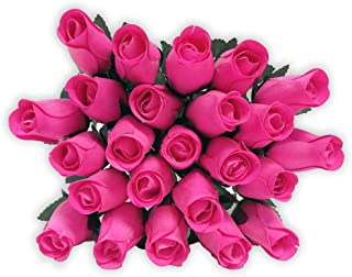 Shop Zoombie 24 Realistic Wooden Roses -Pink Flower Roses