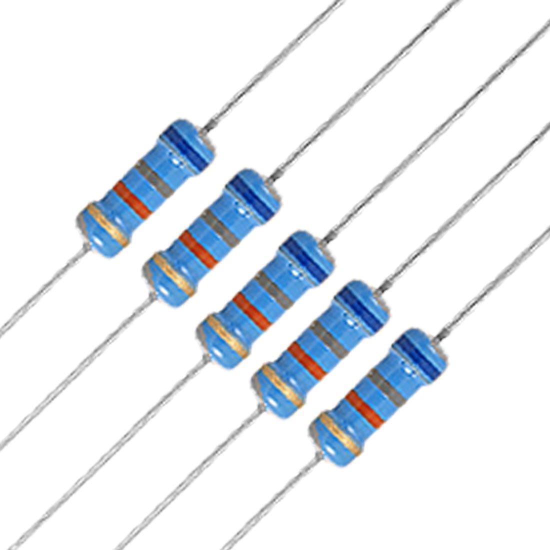 Max 80% OFF Cheap sale uxcell 20Pcs 1 2W Watt 68K 0.5W Film Carbon ohm 68KR Resistor