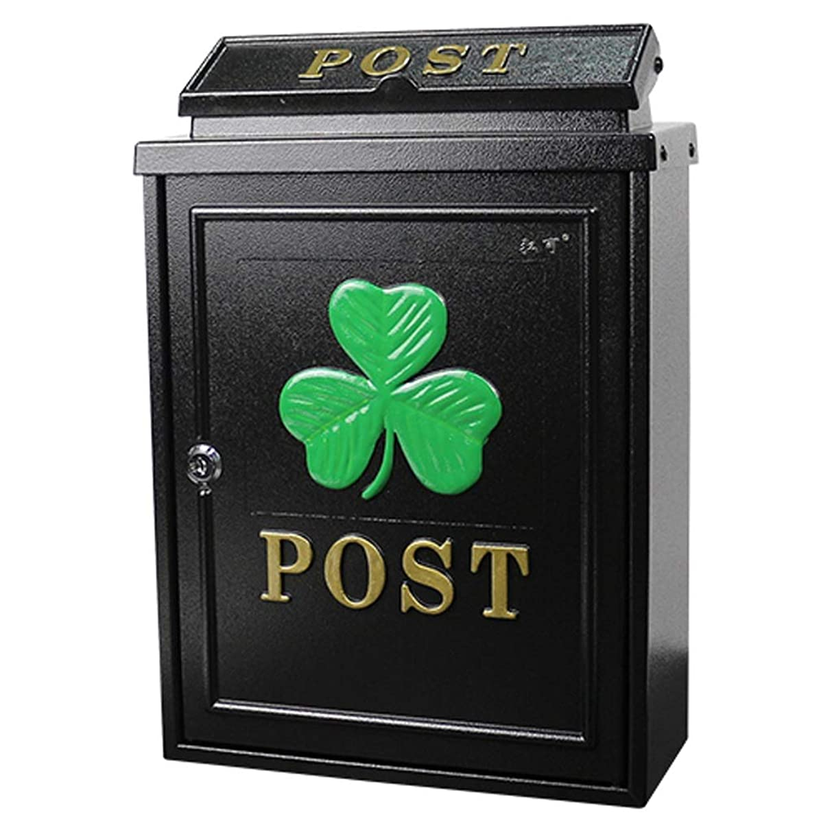 ショット成熟放映RMJAI メールボックス キーロック、壁の取付けとの黒の上のローディングのメールボックス