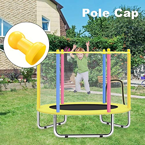 adgbd Trampoline Pole Caps, Top Net Hook Enclosure For Fiber Glass Or Metal Rings, Steel Pipe Top Cover For Children Trampoline