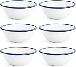 Argon Tableware Traditional Enamel White Cereal Bowls - 155mm / 6