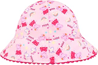 Peppa Pig Official Licensed Girls White All Over Design Baseball Cap Hat Age 4-5 Years