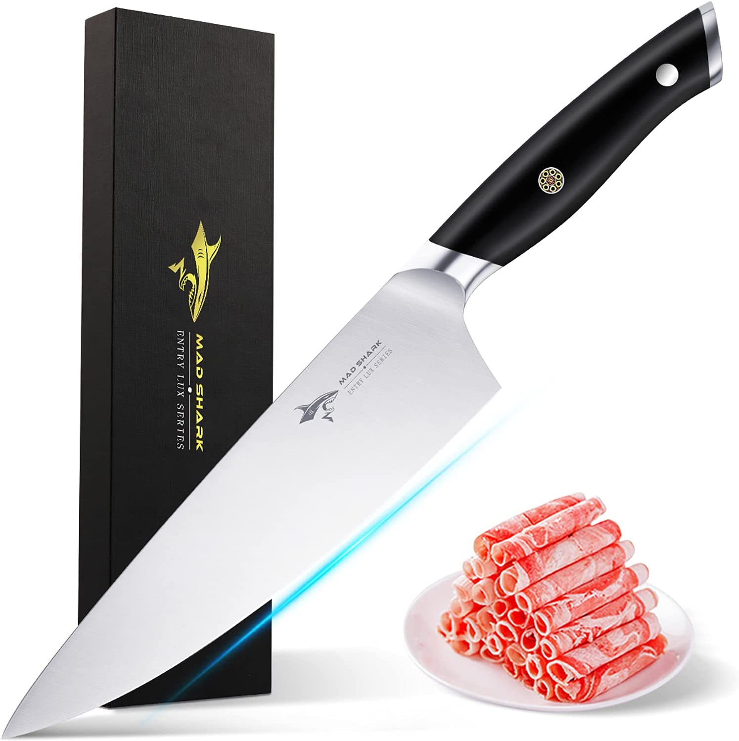 MAD High material SHARK Professional 8 Inch All items free shipping Chef Knife Grade Military German