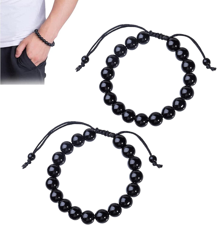 LKHYL Popular product Lymphatic Drainage Black Adjustable OFFicial mail order Bracelet Fen Obsidian