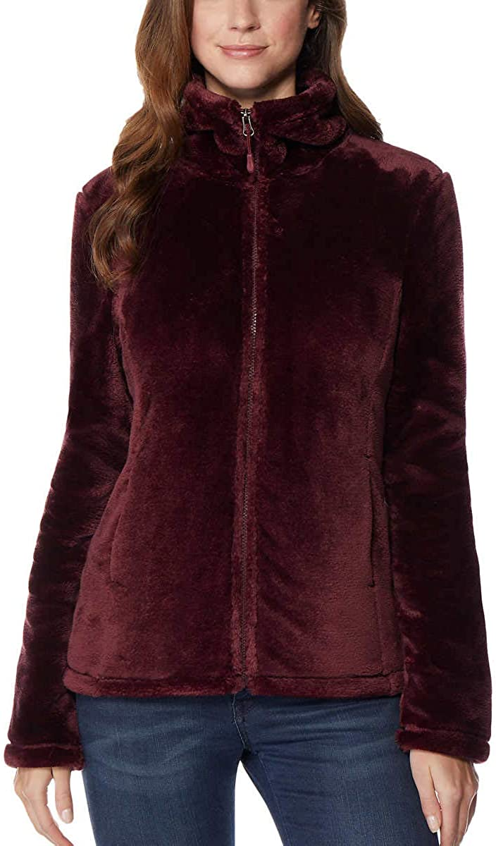 32 DEGREES Womens Luxe Fur Jacket