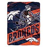 Officially Licensed NFL Denver Broncos 'Deep Slant' Micro Raschel Throw Blanket, 46' x 60', Multi Color