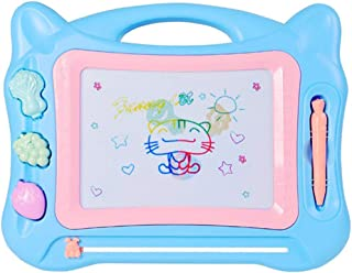 Geekper Drawing Board Blue Erasable Colorful Magnetic Doodle Toys Writing Sketching Pad