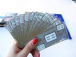 FGYJYUK Crystal Mahjong Playing Card Travel Portable Mahjong Mahjong Solitaire Chess Send Chip Coin Mini Paper Mahjong-Crystal Mahjong Poker